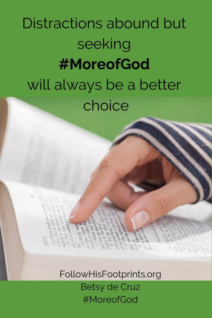 More of God is better